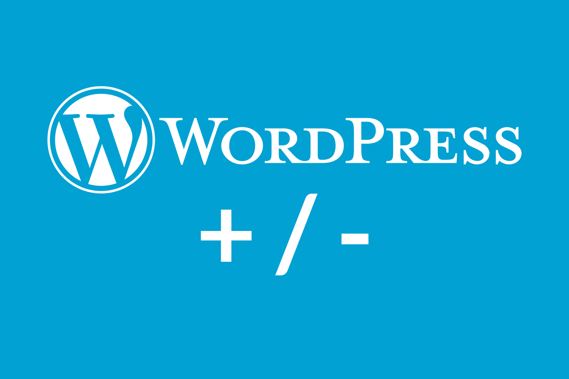 WordPress wady zalety